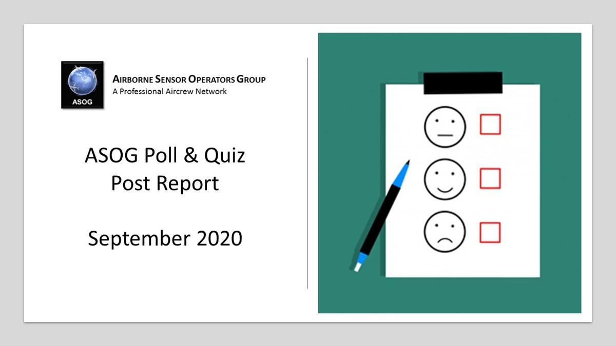 ASOG September 2020 Poll & Quiz Post Report