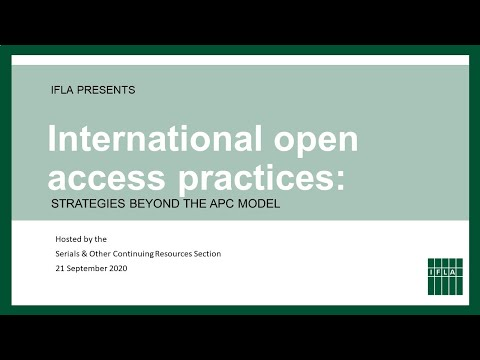 International Open Access Practices: Strategies Beyond the APC Model