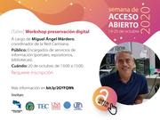 Workshop preservación digital
