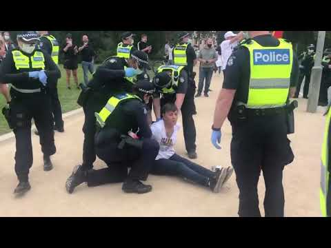 Footage from the Lockdown Protest at Shrine of Remembrance 23rd October 2020
