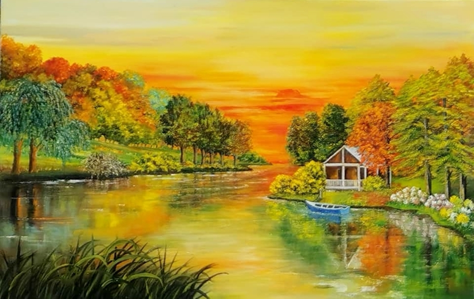 la maison au bord de la rivière