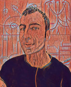 2018-Self-Portrait -Clean Squiggly_16inx20in