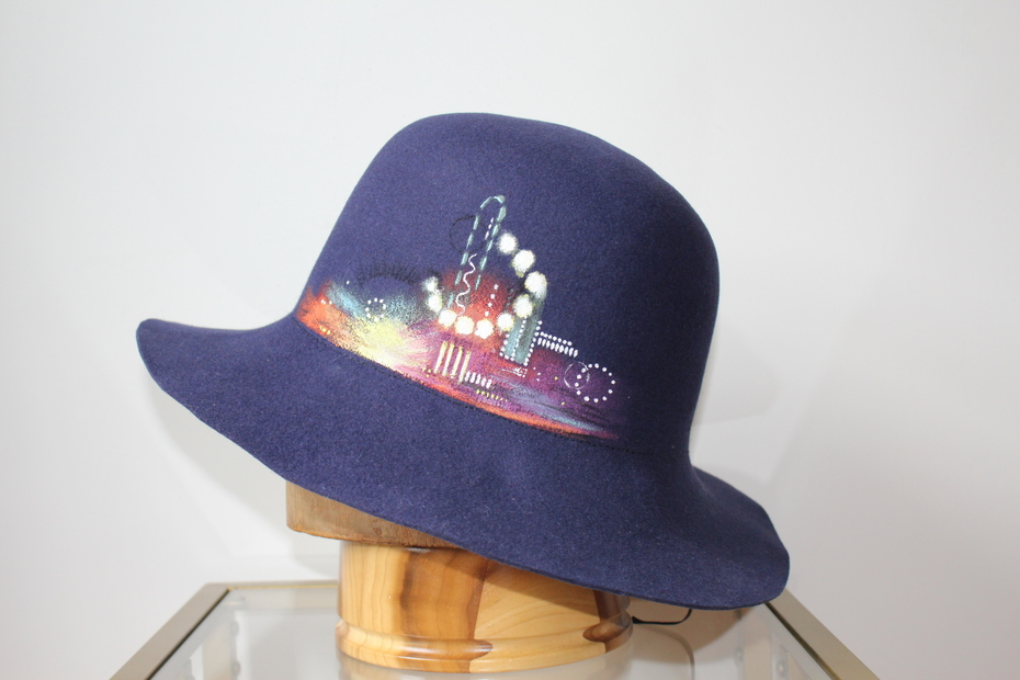 The Great Hatsby | hand painted Great Gatsby inspired felt hat