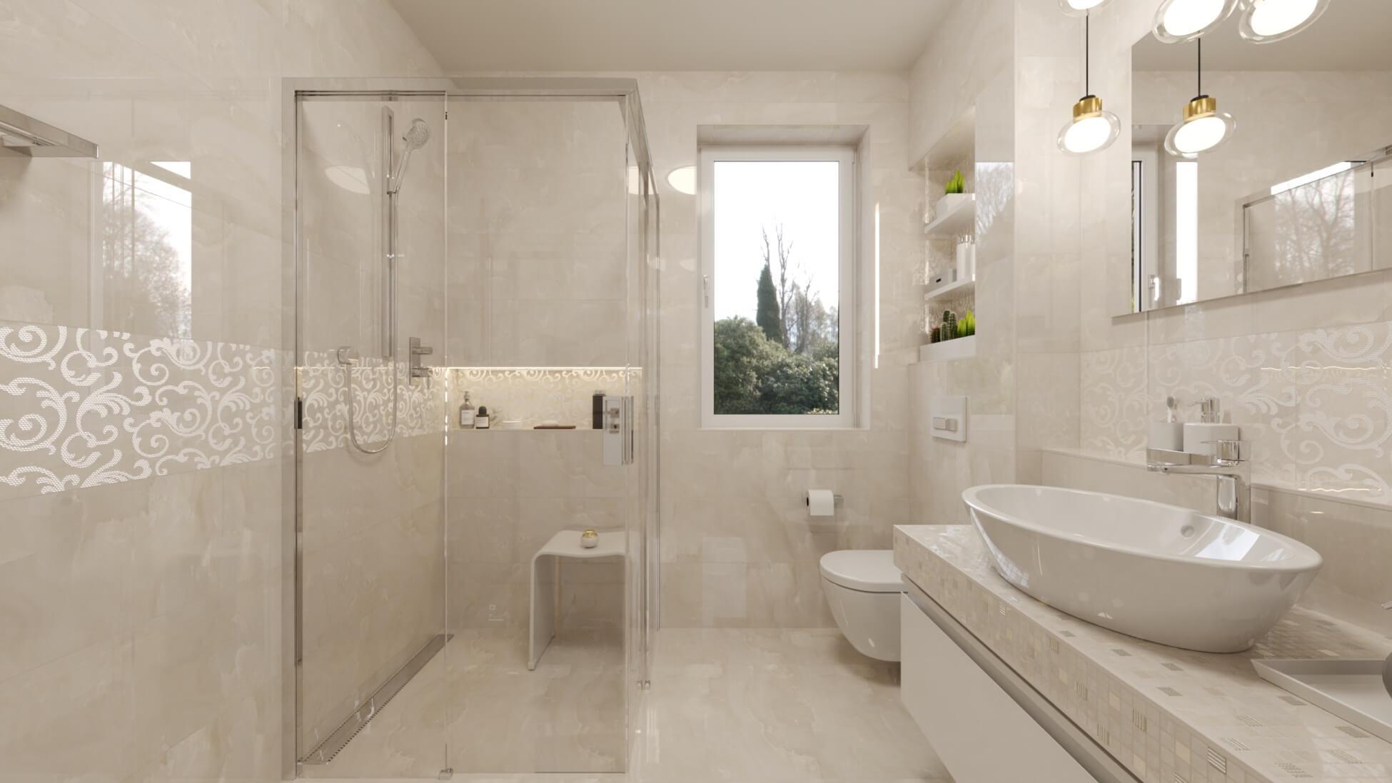 Decentná nadčasová kúpeľňa