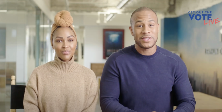 """[Video Inside] DeVon Franklin and Meagan Good Endorse Joe Biden and Kamala Harris While Hosting Virtual """"Get Out the Vote: A Soul of the Nation Gospel Concert Special"""" Event"""