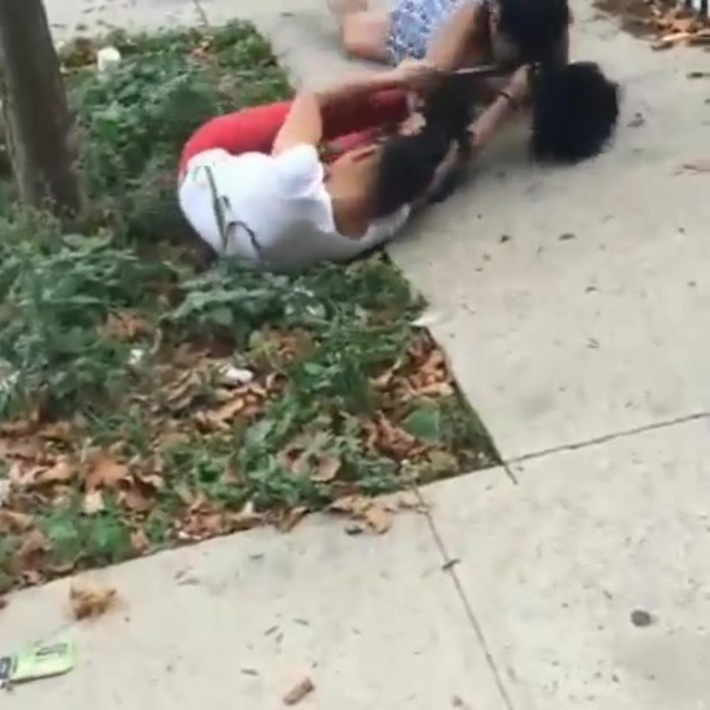 2 crackheads fight over a trick