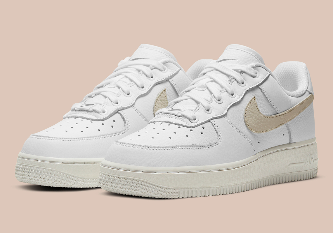 "Cop Or Not Ladies? The Women's Nike Air Force 1 Low ""Light Bone"" Features Swoosh Stencils"