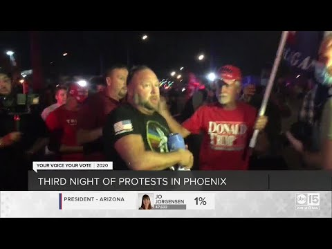 Third night of protests in Maricopa County Arizona