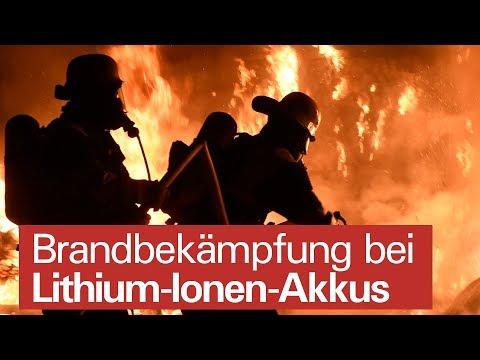 Baterías de iones de litio para extinción de incendios