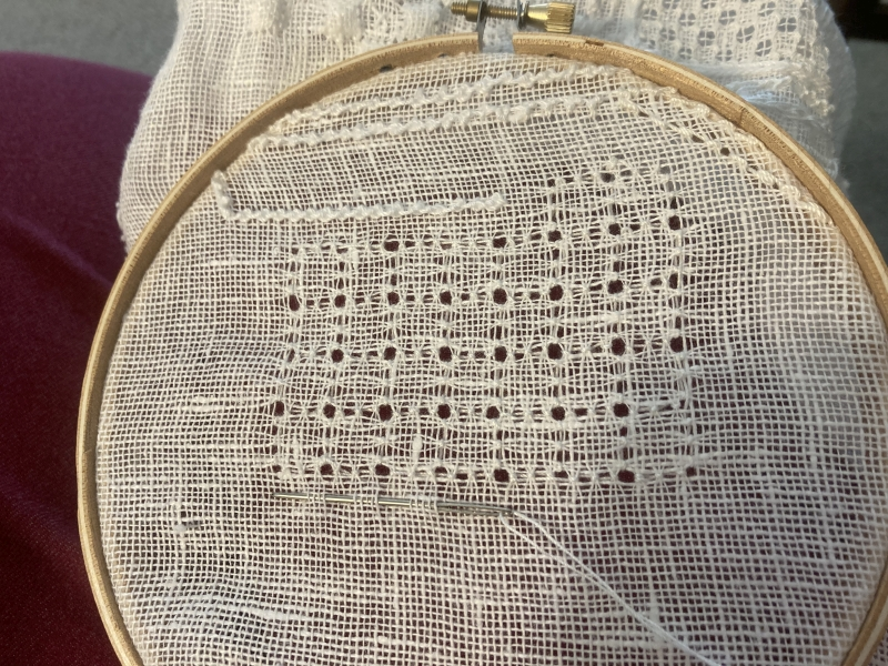 Square backstitch
