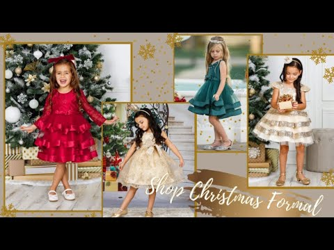 Girls Christmas Gowns | Buy 3 or More Save 15% Off With Code SHINE15