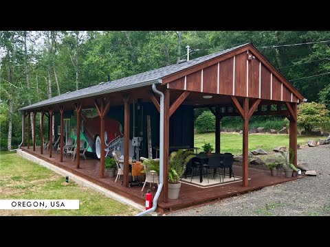Shipping Container Glamping in Astoria, Oregon, USA