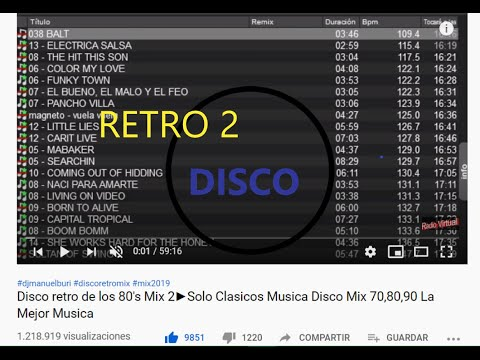 Disco retro de los 80's Mix 2►Solo Clasicos Musica Disco Mix 70,80,90/Los 70s y 80s 90s The Best/