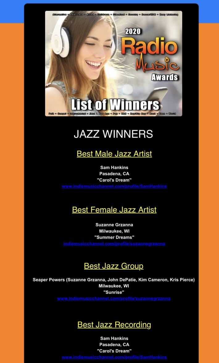 Indie Music Channel Radio Award Instrumental Winner