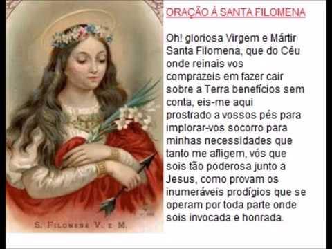 Oração para pedir graça a Santa Filomena