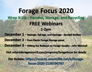 Forage Focus 2020 - Post Plastic Forage Storage Panel