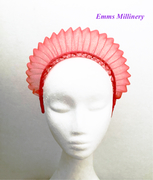 Red Pleated Crin Headband