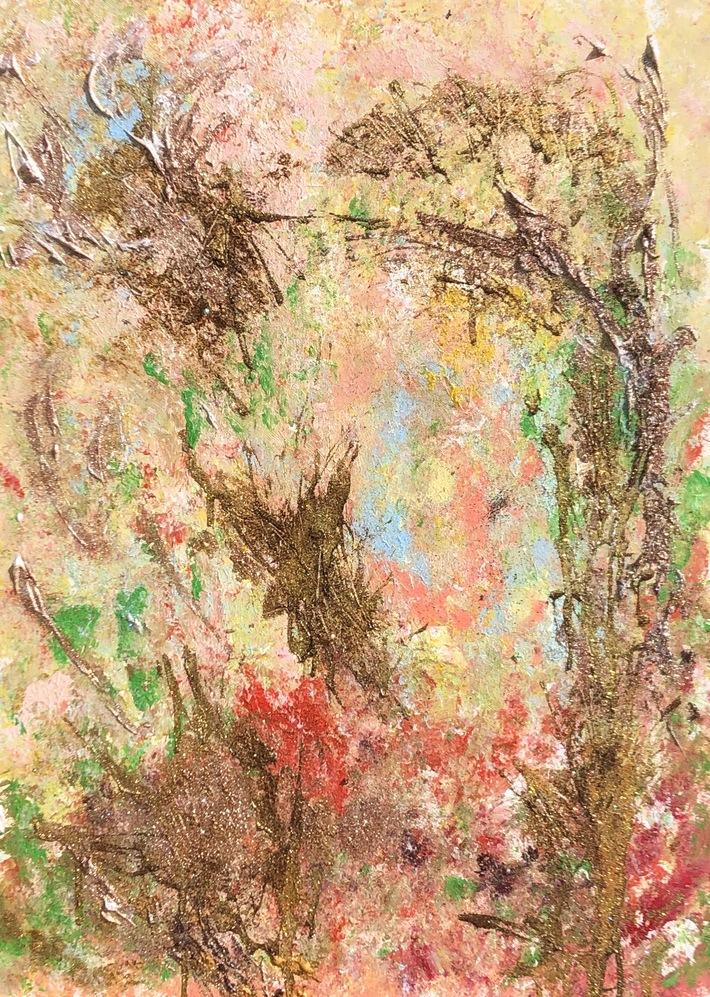 Moment d'Or 1, 50 x 70, vertikal, Acryl auf Leinwand, 2020