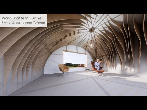 Wavy Pattern Tunnel Interior Rhino Grasshopper Tutorial
