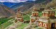 Mountain stone stupas