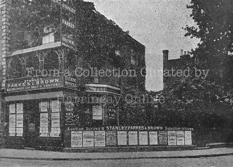 Corner of Turnpike Lane & Hornsey Park Road , c1902
