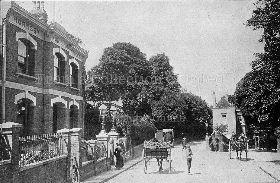 Hornsey Town Hall, Before the Crouch End Building, c 1905