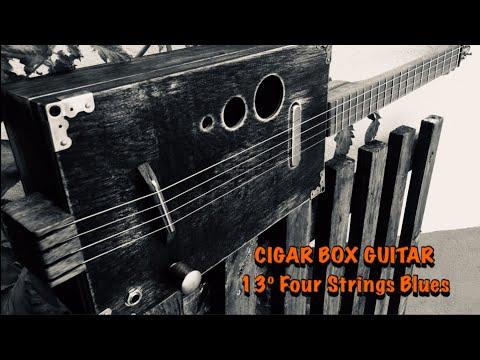 Cigar Box Guitar 13º Design Four Strings Blues