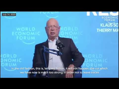 """Klaus Schwab, Covid-19: The Great Reset: """"We Won't Go Back to Normal"""""""