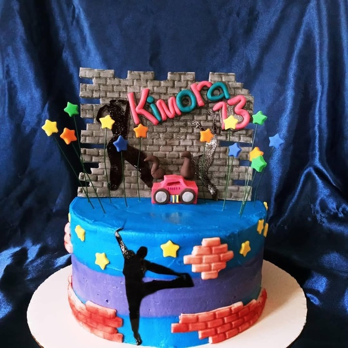13th Birthday Hip Hop Dance Cake