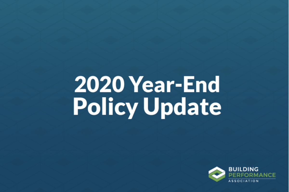 2020 Year-End Policy Update