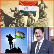 Sandeep Marwah Chief Scout For India Paid Tribute to Forces on Vijay Diwas