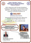 National Webinar on DELNET- Network Resources and Services: Discovery Portal and Knowledge Gainer Portal