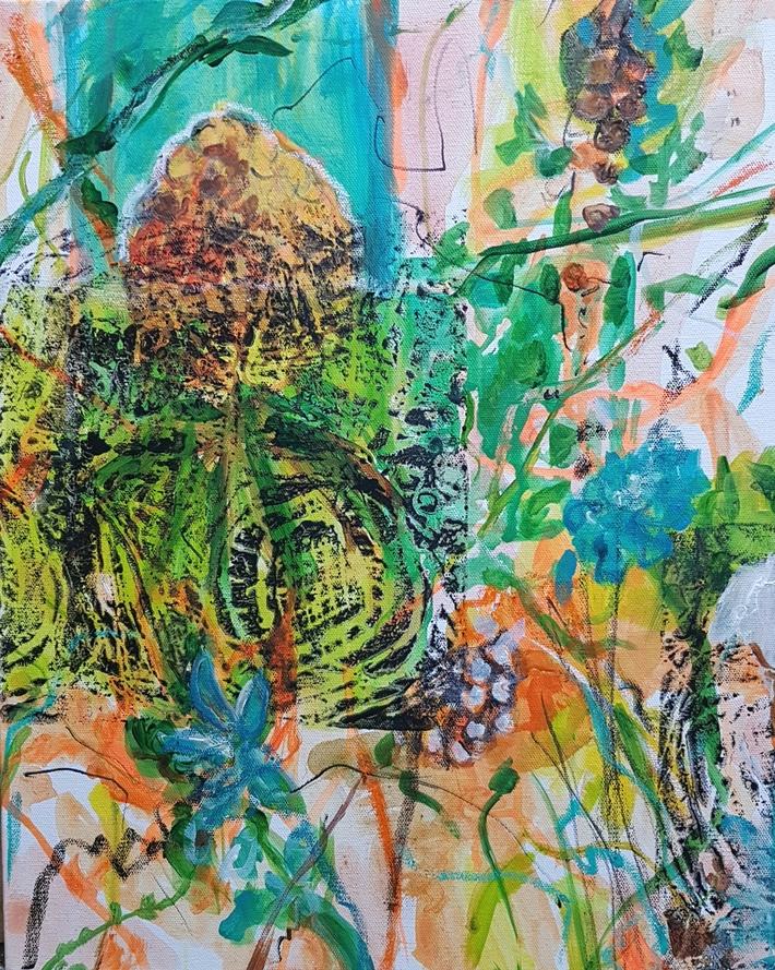 Pineapple  2021 Acryl auf Leinwand 50x40