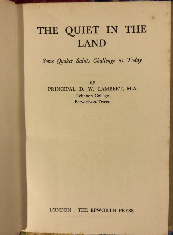 The Quiet in the Land - David Lambert