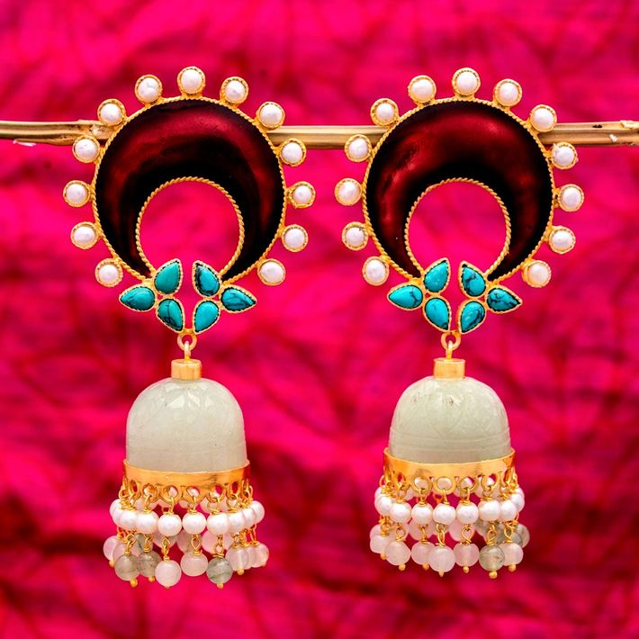 Looking South Indian jhumkas at online shopping