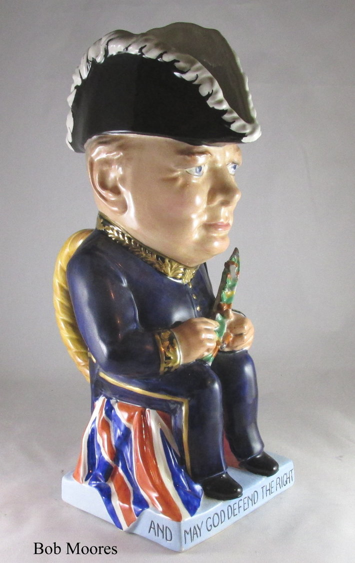 Wilkinson's Churchill Toby jug by Clarice Cliff c.1941