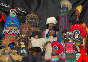 35th Annual Black Doll Show  Trench Art Retrospective: The War Against HIV/AIDS Women of the African Diaspora in the Trenches - Curated by Dr. Cynthia Davis - Opens Saturday, December 12, 2-5pm