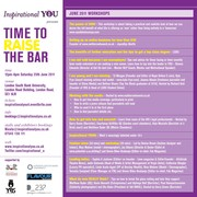 Inspirational YOU - Time to raise the bar - Saturday 25th June