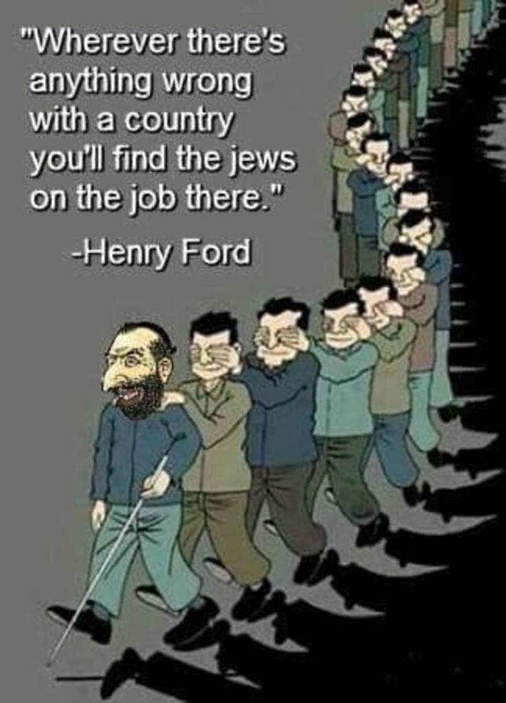 Henry ford knew the signs of jewery and exposed them