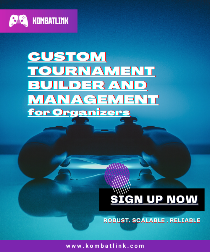 Custom Tournament Builder and management for Organizers