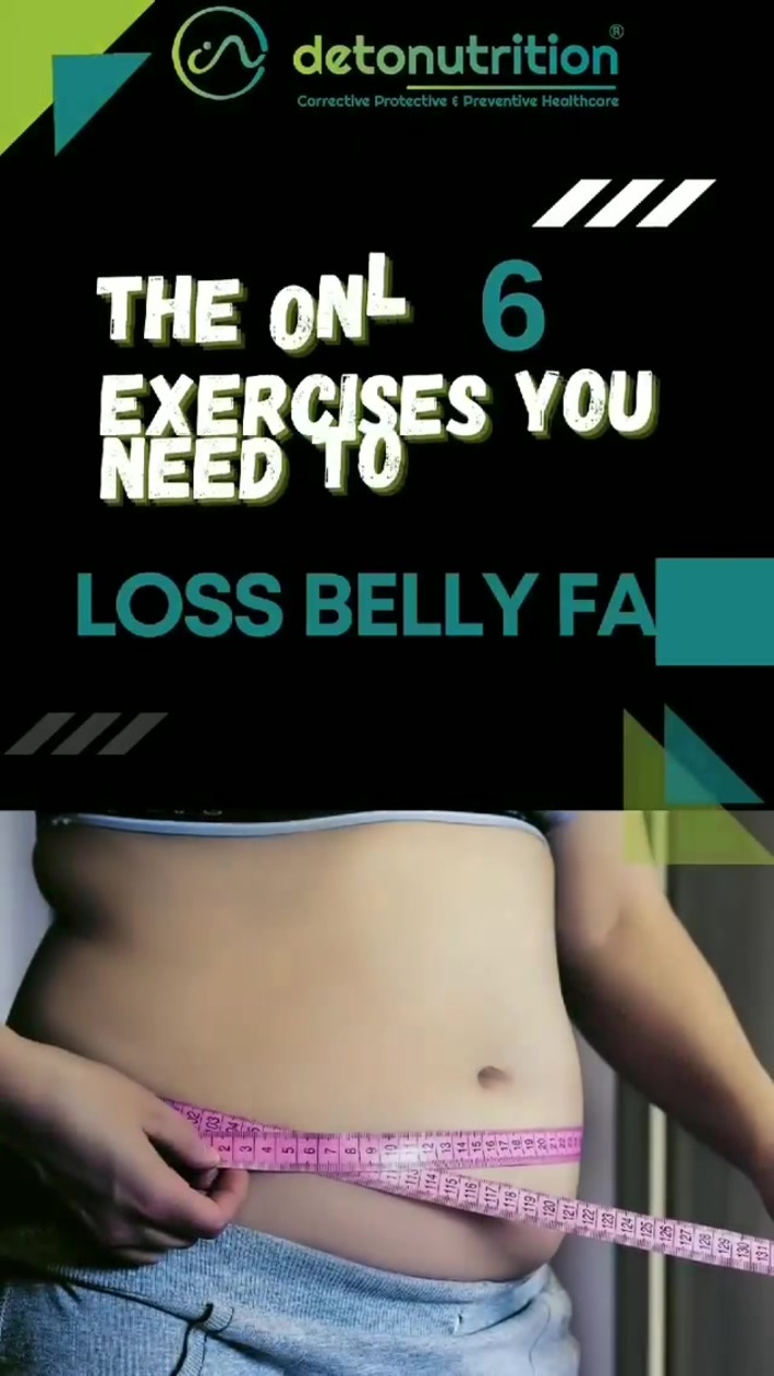 Best six exercises to lose belly fat - Detonutrition India