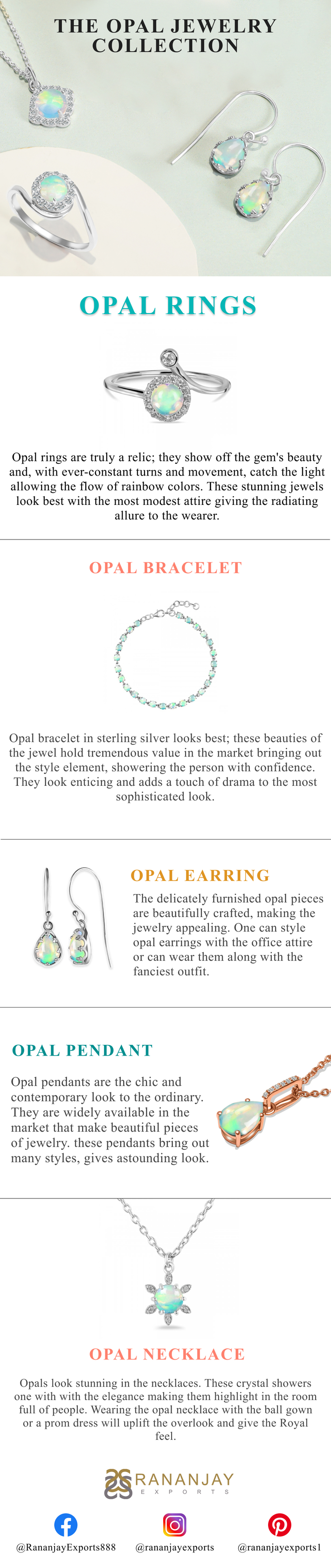 Buy online Gorgeous Opal Jewelry at Factory Price