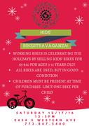 Bikestravaganza!, Working Bikes' annual holiday kids bike sale