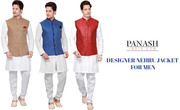 Designer Indian Nehru Jacket For Men